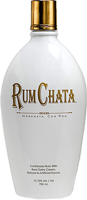Engraved text on a bottle of Personalised RumChata Liqueur 70cl