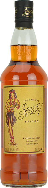 Personalised Sailor Jerry Spiced Rum 70cl engraved bottle