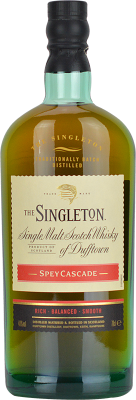 Personalised Singleton of Dufftown Spey Cascade Whisky 70cl engraved bottle