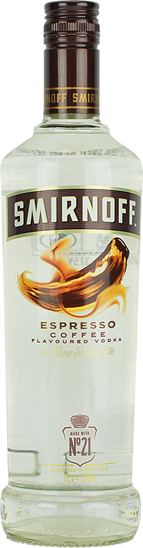 Personalised Smirnoff Espresso Coffee Vodka 70cl engraved bottle