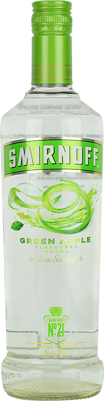 Personalised Smirnoff Apple Vodka 70cl engraved bottle