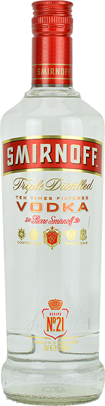 Personalised Smirnoff Red Vodka 70cl engraved bottle