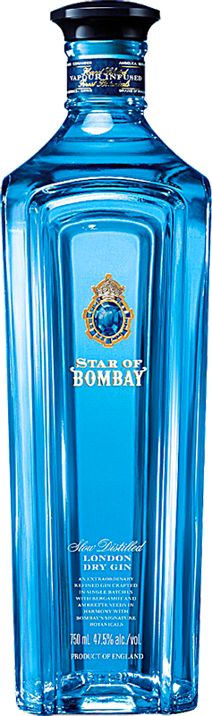 Engraved text on a bottle of Personalised Star of Bombay Gin 70cl