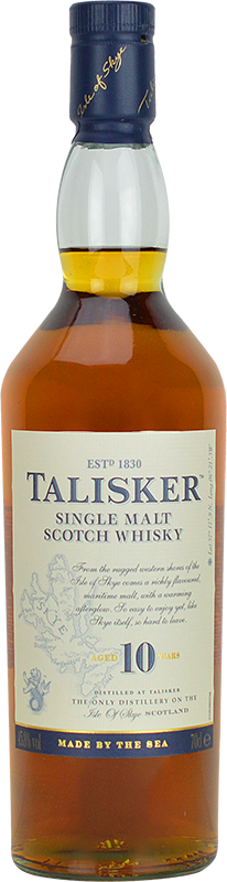 Personalised Talisker 10 Year Old Whisky 70cl engraved bottle