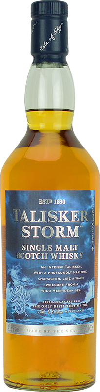 Personalised Talisker Storm Whisky 70cl engraved bottle