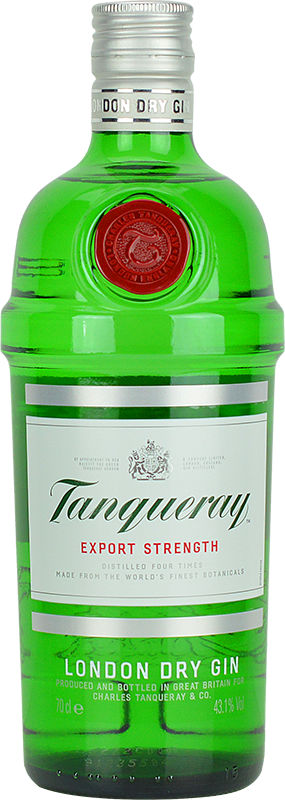 Engraved text on a bottle of Personalised Tanqueray Gin 70cl