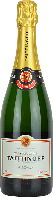 Engraved text on a bottle of Personalised Taittinger Brut Réserve Champagne 75cl