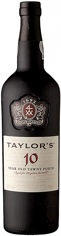 Personalised Taylors 10 Year Old Tawny Port 75cl engraved bottle