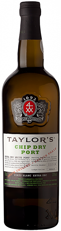 Personalised Taylors Chip Dry Port 75cl engraved bottle