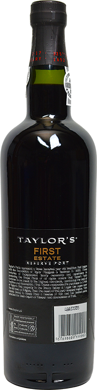 Personalised Taylors First Estate Reserve Port 75cl engraved bottle
