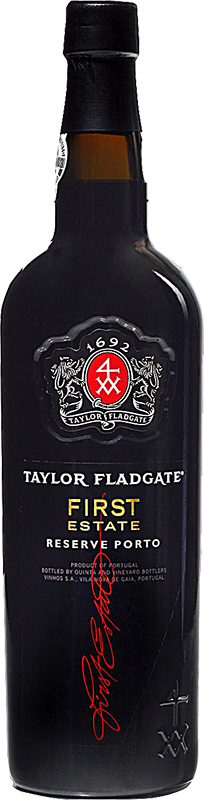 Engraved text on a bottle of Personalised Taylors First Estate Reserve Port 75cl