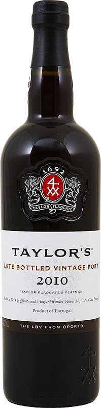 Engraved text on a bottle of Personalised Taylor's Late Bottled Vintage Port 75cl