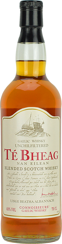 Personalised Te Bheag Nan Eilean Whisky 70cl engraved bottle