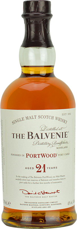 Personalised Balvenie 21 Year Old Whisky 70cl engraved bottle