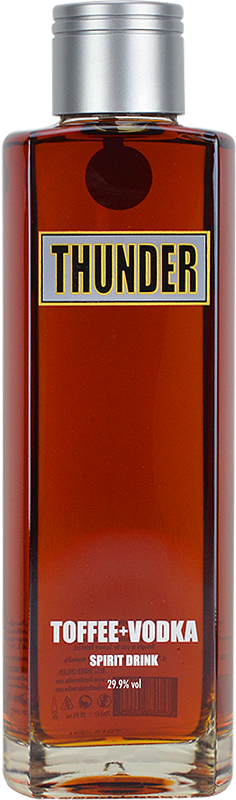 Personalised Thunder Toffee Vodka 70cl engraved bottle