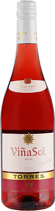 Personalised Torres Vina Sol Rose Catalunya Wine 75cl engraved bottle