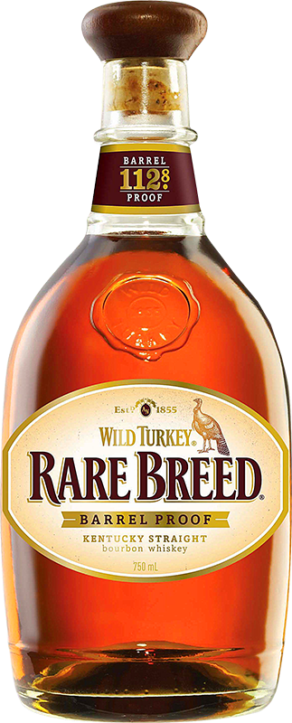 Engraved text on a bottle of Personalised Wild Turkey Rare Breed Bourbon 70cl