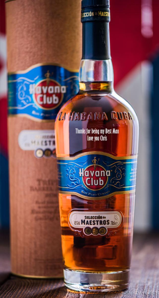 Personalised havana club rum