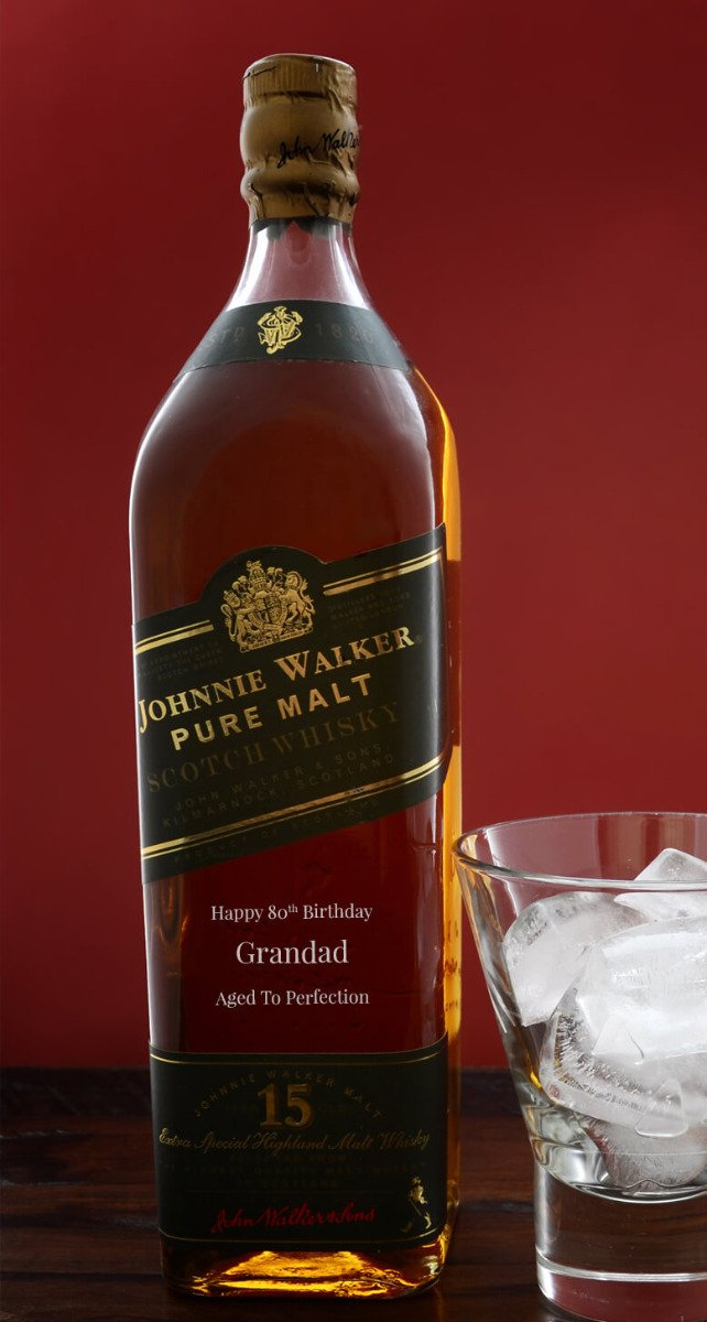 Personalised johnnie walker